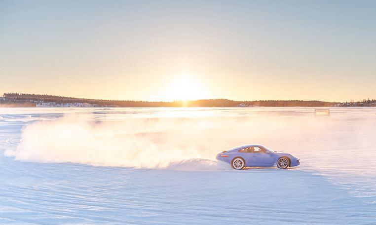 Porsche Wintertraining n Lappland