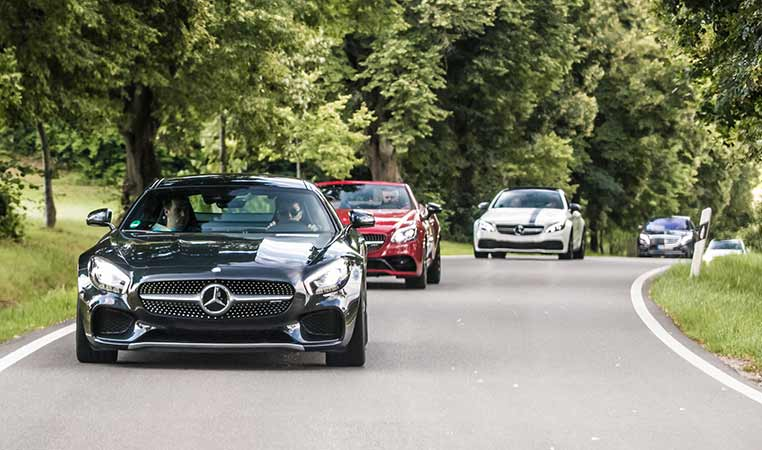 drive in motion Mercedes AMG Sportwagen-Tour auf der Landstrasse