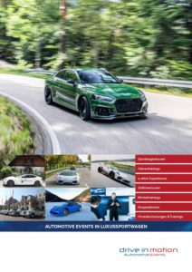 """drive in motion Broschüre """"Automotive Events"""""""
