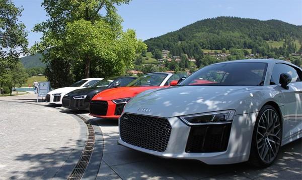 drive in motion Audi R8 im Alpenvorland