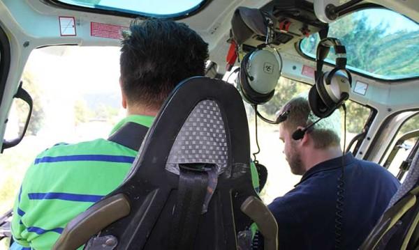 drive in motion Helicopter Rundflug Cockpit