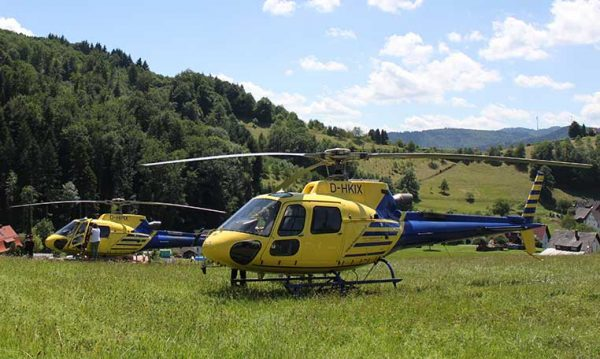 drive in motion Helicopter Rundflug